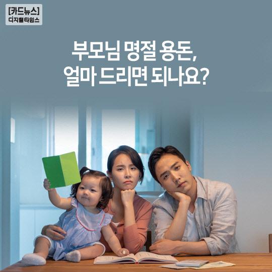 [카드뉴스]부모님 명절 용돈, 얼마 드리면 되나요?